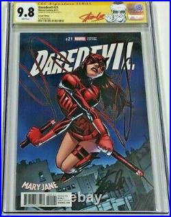 Marvel Daredevil #21 Mary Jane Variant Signed by Stan Lee CGC 9.8 SS Red Label
