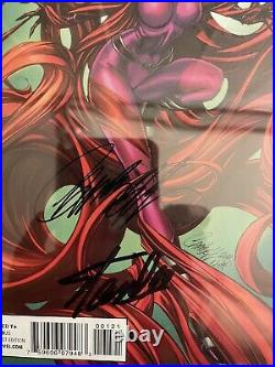 Marvel Inhuman #1 Medusa Variant Signed Stan Lee & J. Scott Campbell CGC 9.8 SS