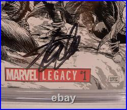 Marvel Legacy 1 2017 CGC SS 9.8 Signed Stan Lee Mike Deodato 11000 Variant