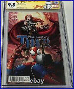 Marvel Mighty Thor #20 Mary Jane Variant Signed by Stan Lee CGC 9.8 SS Red Label