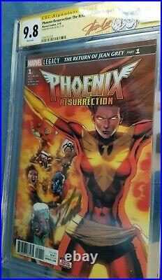 Marvel Phoenix Resurrection #1 3-D Variant Signed Stan Lee CGC 9.8 SS Red Label