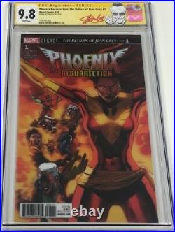 Marvel Phoenix Resurrection #1 Lenticular 3-D Variant Signed Stan Lee CGC 9.8 SS