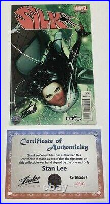Marvel Silk #1 Hastings Exclusive Variant Signed by Stan Lee withCOA Spider-Man