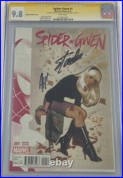 Marvel Spider-Gwen #1 1100 Variant Signed by Stan Lee & Adam Hughes CGC 9.8 SS