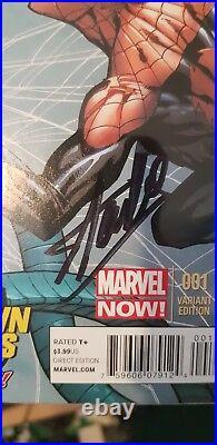 Marvel Stan Lee Signed The Superior Spider-man # 1 Midtown Variant Tripple Sign
