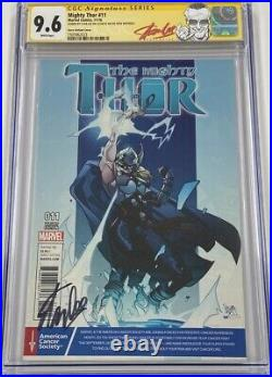 Mighty Thor #11 Cancer Society Variant Signed by Stan Lee on Birthday CGC 9.6 SS