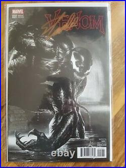 Now Venom #1 Dell'Otto Black and White Variant NM Signed Stan Lee with CoA