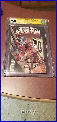 PETER PARKER SPECTACULAR SPIDER MAN 300 Variant CGC 9.8SS 1500 signed Stan Lee