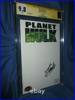 PLANET HULK #1 CGC 9.8 SS Signed by Stan Lee (Blank Sketch Variant)