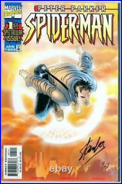 Peter Parker Spider-man #1 Variant Dynamic Forces Signed Stan Lee Df Coa Marvel