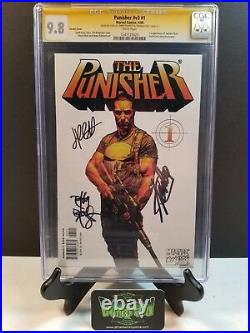 Punisher #1 Variant Cgc Ss 9.8 3x Signed Stan Lee Tim Bradstreet Palmiotti 2000