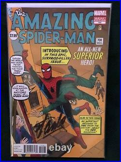 RARE (DITKO VARIANT) withCOA AMAZING SPIDER-MAN #700 (Autographed by Stan Lee)