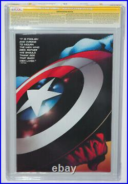 REBORN #1 CGC 9.6 SS Signed by STAN LEE, QUESADA CAPTAIN AMERICA VARIANT COVER