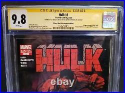 Red Hulk #1 Turner Variant Wwla Cgc Ss 9.8 2x Signed Stan Lee Ed Mcguinness 1st