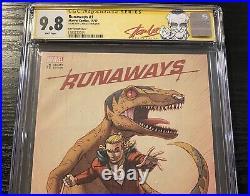 Runaways #1 CGC 9.8 Signed Stan Lee Label Ron Lim Variant SS Marvel