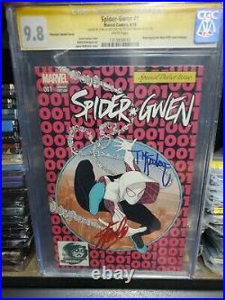 SPIDER-GWEN #1 CGC 9.8 SIGNED by STAN LEE & TODD MCFARLANE Man PHANTOM VARIANT