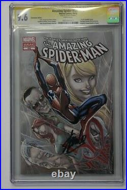 SS CGC 9.6 NM+ Amazing Spider-man 692 Campbell Fan Expo Variant Stan Lee Signed