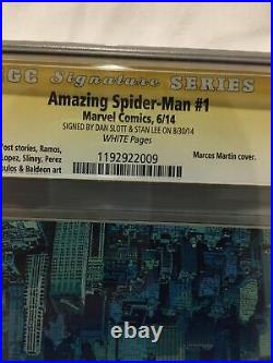 SS Sign By Stan Lee/Dan Slott Amazing Spider-Man 1 Marcos Martin Variant CGC9.8