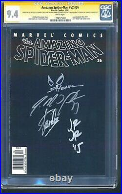 STAN LEE SIGNED Amazing Spider-Man v2 #36 CGC 9.4 SS 4X NEWSSTAND/UPC VARIANT NM