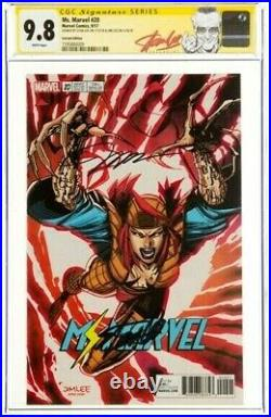 STAN LEE Signed 2017 Ms. MARVEL #20 SS Marvel Comics CGC 9.8 NM/MT Variant