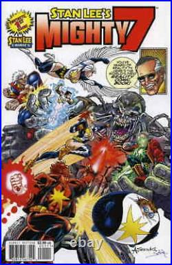STAN LEE's MIGHTY 7 #1 SIGNATURE VARIANT SIGNED BY STAN LEE PLUS TWO #1 ISSUES