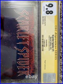 Scarlet Spider 2012 #1 150 Venom Variant CGC SS 9.8 Signed by Stan Lee RARE