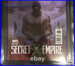 Secret Empire 5 CGC 9.4 SS Stan Lee Label Signed Sorrentino Variant Cover A RARE