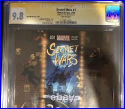 Secret Wars 1 CGC SS 9.8 Signed Stan Lee Zdarsky Variant Avengers MCU New Movie