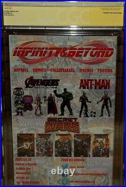Secret Wars 1 Infinity & Beyond variant CGC 9.8 SIGNED Stan Lee RIP COVER comic