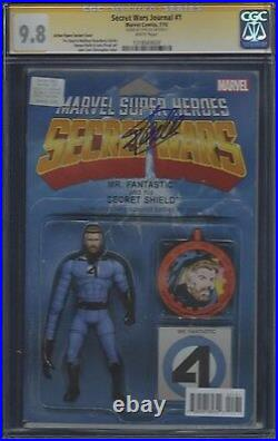 Secret Wars Journal #1 Action Figure variant CGC 9.8 SS Signed by Stan Lee