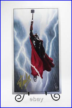 Signed by Stan Lee with COA Marvel Thor The Dark World metal variant limited print