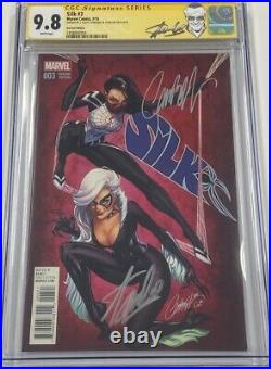 Silk #3 JSC 125 Variant Signed by Stan Lee & J. Scott Campbell CGC 9.8 SS