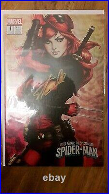 Spectacular Spiderman 1 Artgerm Variant NM Signed Stan Lee with CoA