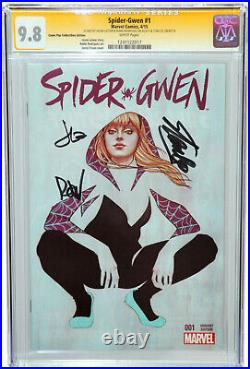 Spider-Gwen #1 CGC SS 9.8 SIGNED 3X BY STAN LEE, LATOUR, RODRIGUEZ COMIC POP VAR