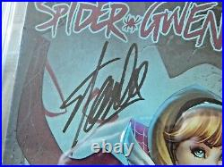 Spider Gwen #2 Campbell Variant Cover Signed Stan Lee CGC 9.8 Emerald City