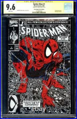 Spider-man #1 cgc 9.6 ss Silver poly-bagged Variant RARE Signed by STAN LEE