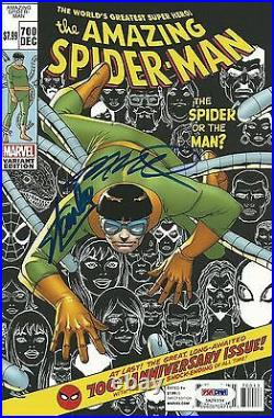 Stan Lee Humberto Ramos Signed The Amazing Spider-Man #700 Variant Comic PSA/DNA