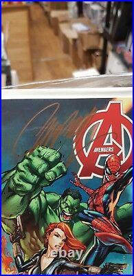 Stan Lee Signed All New X-men Uncanny Avengers & Avengers Midtown Comics Variant