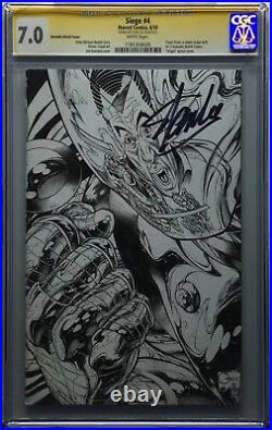 Stan Lee Signed Marvel Siege #4 Quesada Iron Man Sketch Cover Variant CGC