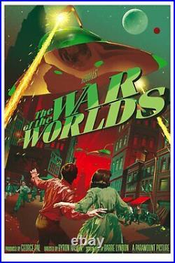 Stan & Vince WAR OF THE WORLDS Poster VAR Print Mondo H. G. Wells Vintage RARE