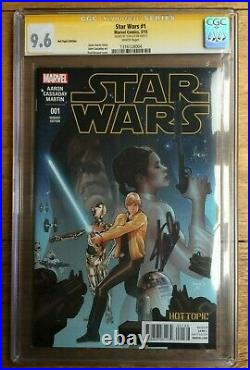 Star Wars #1 CGC SS 9.6 Signed by Stan Lee Hot Topic Recalled Variant 1316128004