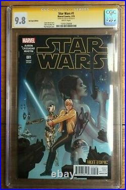 Star Wars #1 CGC SS 9.8 Signed by Stan Lee Hot Topic Recalled Variant 1316128008