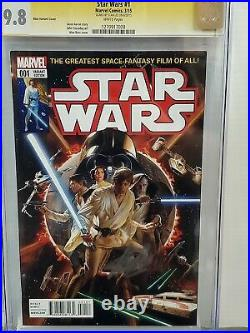 Star Wars #1 Cgc 9.8 Ss Signed Stan Lee Alex Ross Variant Edition 028