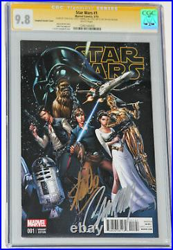 Star Wars #1 Cgc Ss 9.8 Signed 2x By Stan Lee & Scott Campbell Variant Cover
