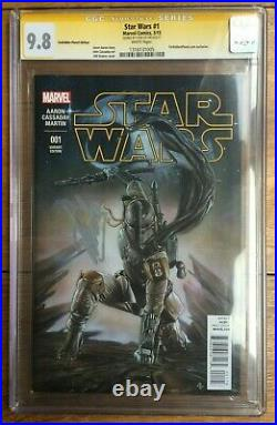 Star Wars #1 Granov Forbidden Planet Color Variant CGC SS 9.8 Signed by Stan Lee