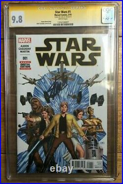 Star Wars #1 John Cassaday Variant CGC SS 9.8 Signed by Stan Lee