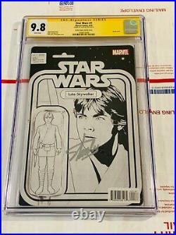 Star Wars 1 Luke Skywalker Action Figure Variant C2E2 CGC 9.8 Signed by Stan Lee