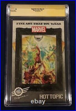 Superior Iron Man #1 75 Years Ross Color Variant 175 CGC 9.8 Signed by Stan Lee