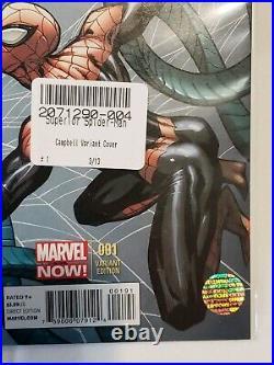 Superior Spider-Man 1 Midtown Comics Variant Stan Lee & Campbell Signed/COA
