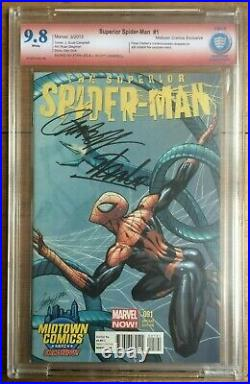 Superior Spider-Man #1 Midtown Variant CBCS 9.8 Signed Stan Lee & Campbell
